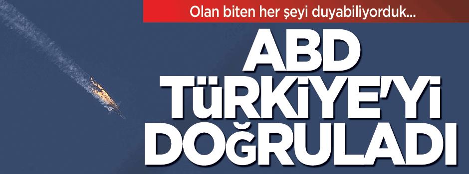 ABD, Türkiye'yi doğruladı
