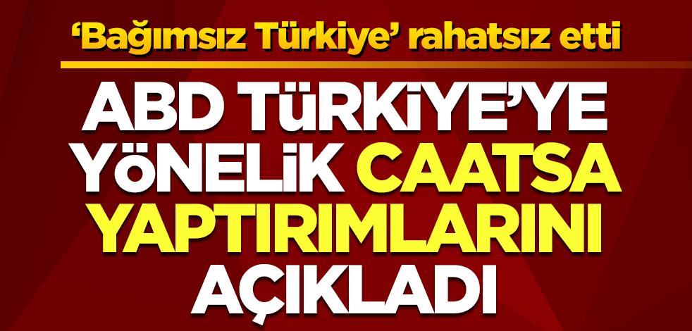 ABD Türkiye'ye yaptırımlarını açıkladı