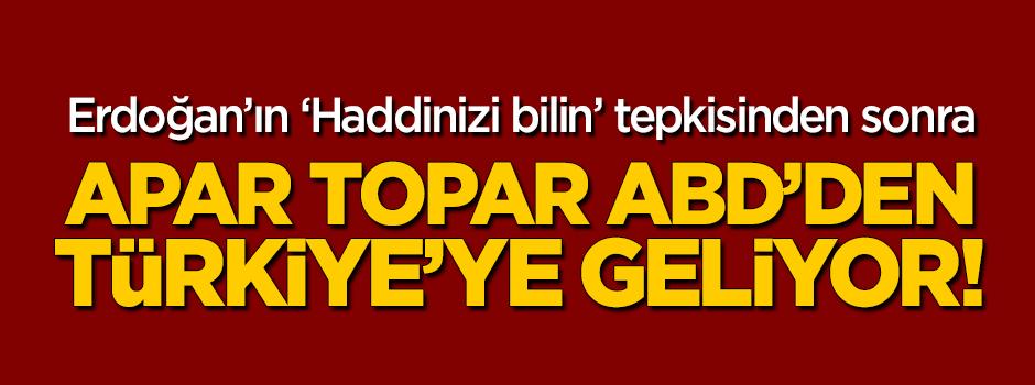 ABD'den flaş karar! Türkiye'ye geliyor