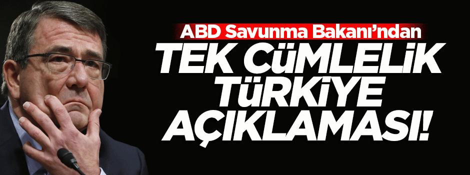 ABD'den tek cümlelik Türkiye açıklaması