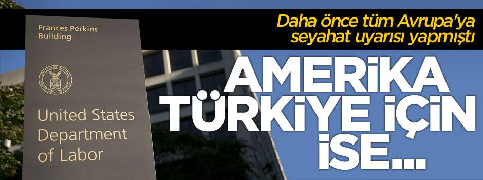 """ABD'den """"Türkiye'ye seyahat"""" ile ilgili açıklama"""