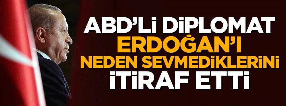 ABD'li diplomat Erdoğan'ı neden sevmediklerini itiraf etti