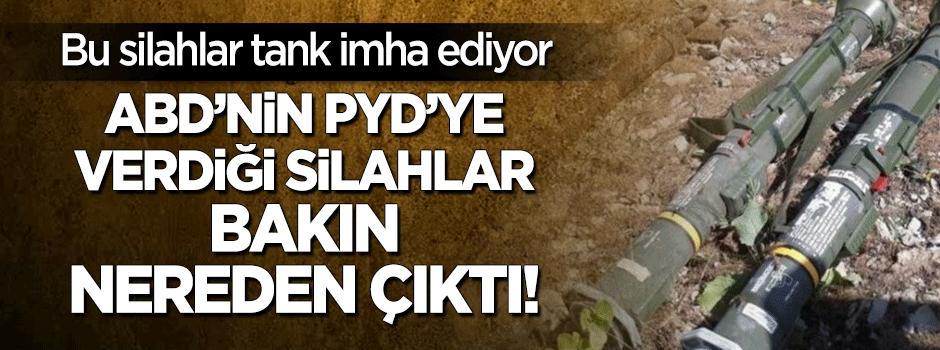 ABD'nin PYD'ye verdiği silahlar Şırnak'ta çıktı!