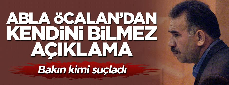 Abla Öcalan'dan kendini bilmez açıklama