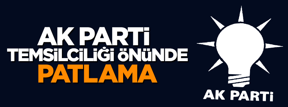 AK Parti Temsilciliği önünde patlama