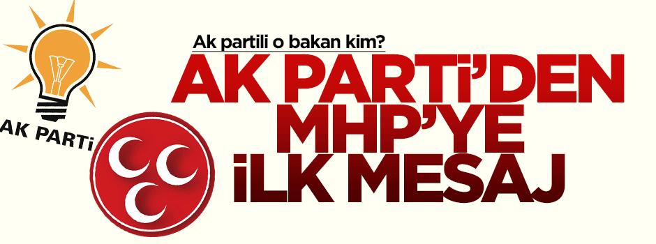 Ak Parti'den MHP'ye ilk mesaj!
