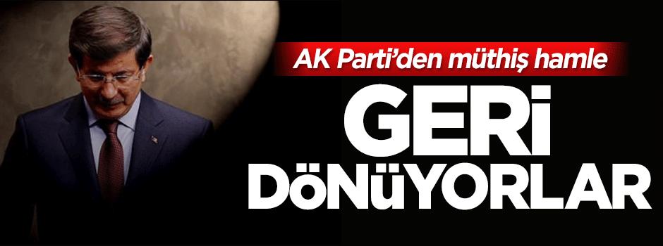 AK Parti'den müthiş formül: Geri dönüyorlar