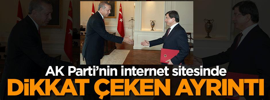 AK Parti'nin internet sitesinde dikkat çeken ayrıntı!