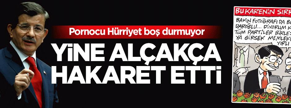 Alçak Hürriyet'ten Başbakan Davutoğlu;'nun toruna hakaret