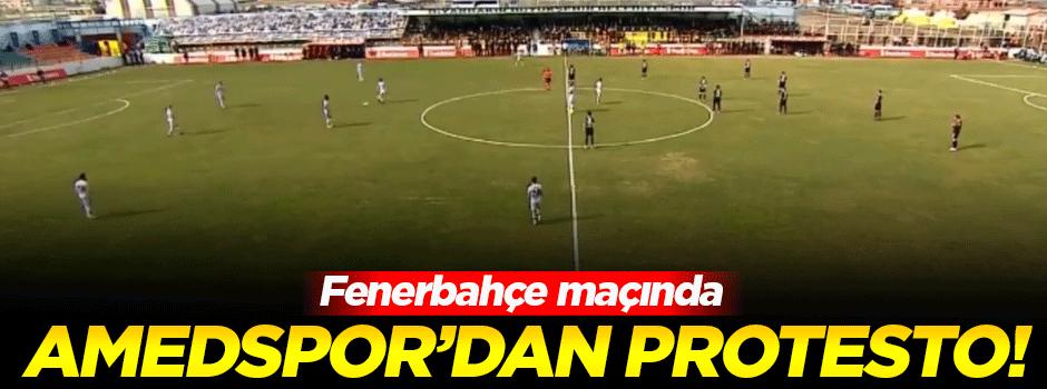 Amedspor'dan Fenerbahçe maçında protesto!