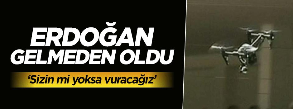Erdoğan'ın katıldığı törende panik!