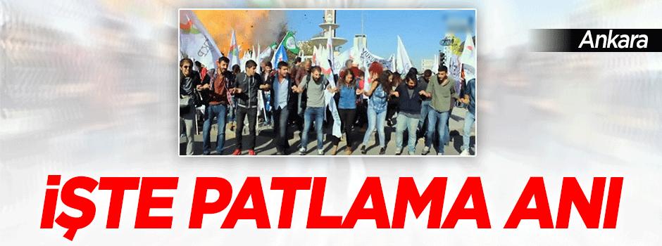 Ankara'daki patlama anı kamerada! - VİDEO