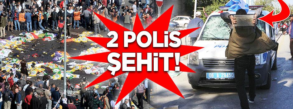 Ankara'daki patlamada 2 polis şehit!