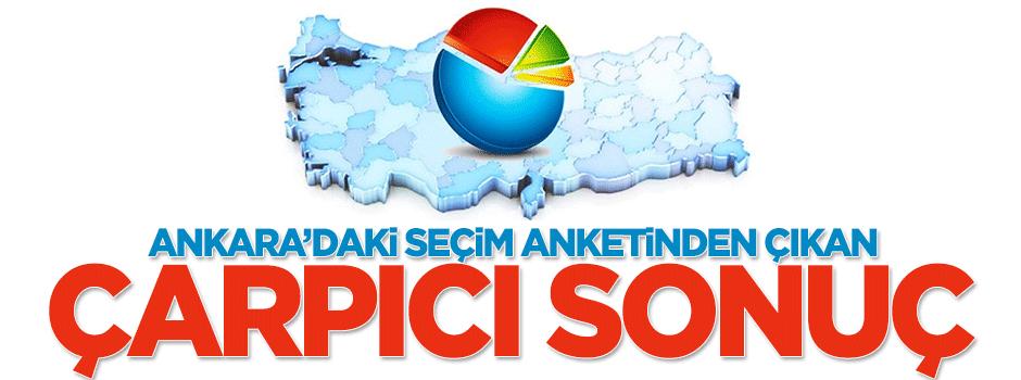 Ankara'daki seçim anketinden çıkan çarpıcı sonuç