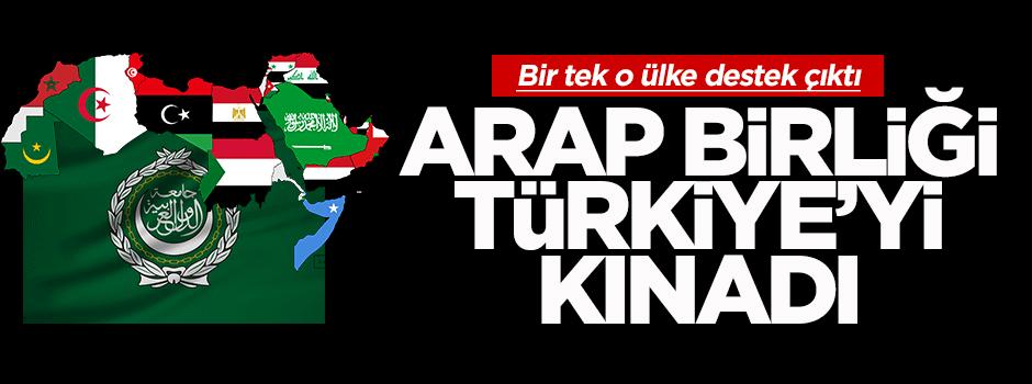 Arap Birliği Türkiye'yi kınadı, o ülke kardeşim dedi