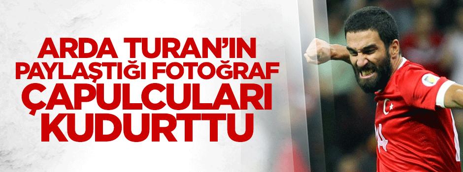 Arda Turan'ın paylaştığı fotoğraf çapulcuları kudurttu