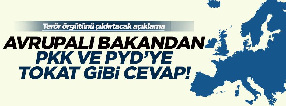 Avrupalı bakandan PKK ve PYD'ye tokat gibi cevap