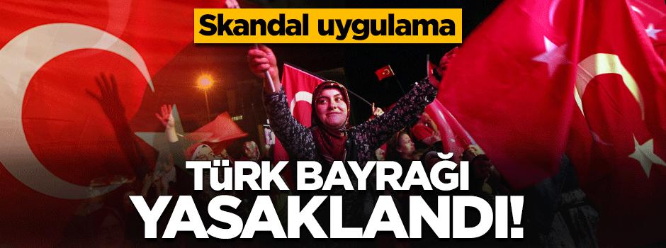 O ülkede Türk bayrağına yasak geldi!