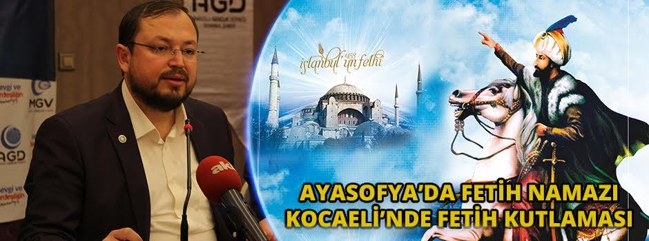 Ayasofya'da Fetih Namazı, Kocaeli'nde Fetih Kutlaması