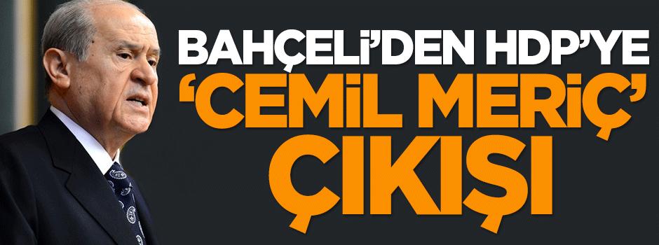 Bahçeli'den HDP'ye 'Cemil Meriç' çıkışı