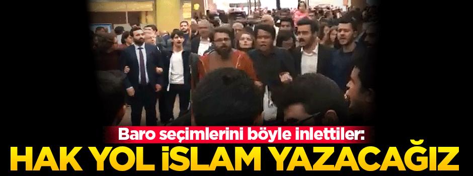 Baro seçimlerini inlettiler: Hak yol İslam yazacağız
