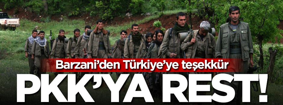 Barzani'den PKK'ya rest! İzin vermeyeceğiz