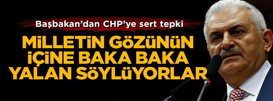 Başbakan Binali Yıldırım'dan CHP'ye sert tepki