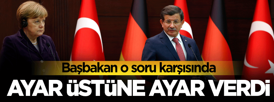 Başbakan Davutoğlu o muhabire ayarı verdi