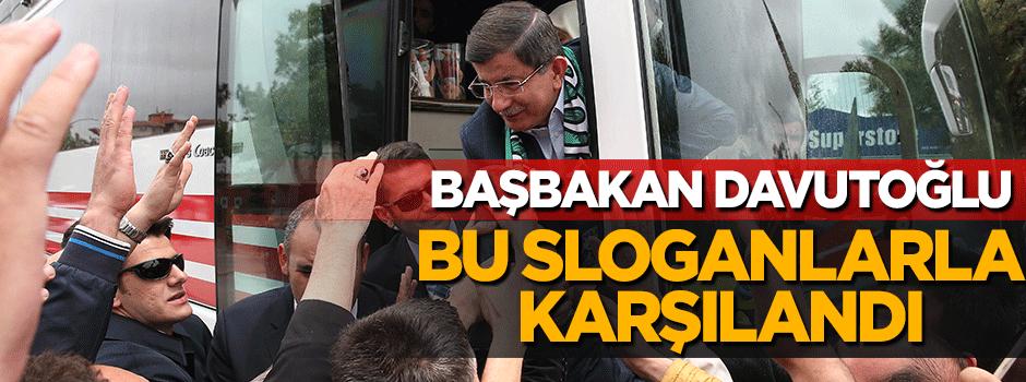 Başbakan Davutoğlu Konya'da bu sloganla karşılandı