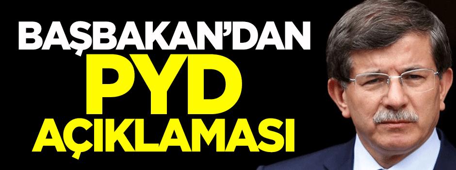 Başbakan'dan PYD açıklaması