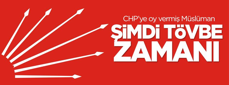 'CHP'ye oy vermiş Müslüman, şimdi tövbe zamanı'