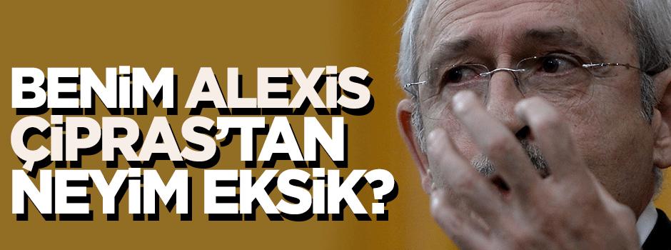'Benim Alexis Çipras'tan neyim eksik'