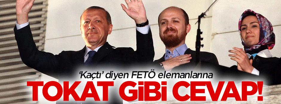 Bilal Erdoğan'dan 'kaçtı' diyenlere tokat gibi cevap!