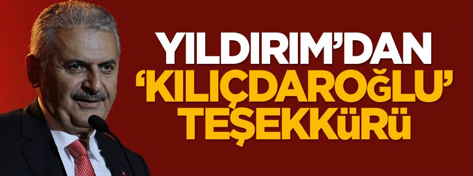 Binali Yıldırım'dan 'Kılıçdaroğlu' teşekkürü