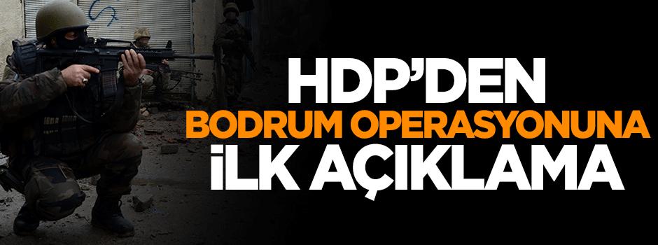 Operasyon sonrası HDP'den ilk açıklama