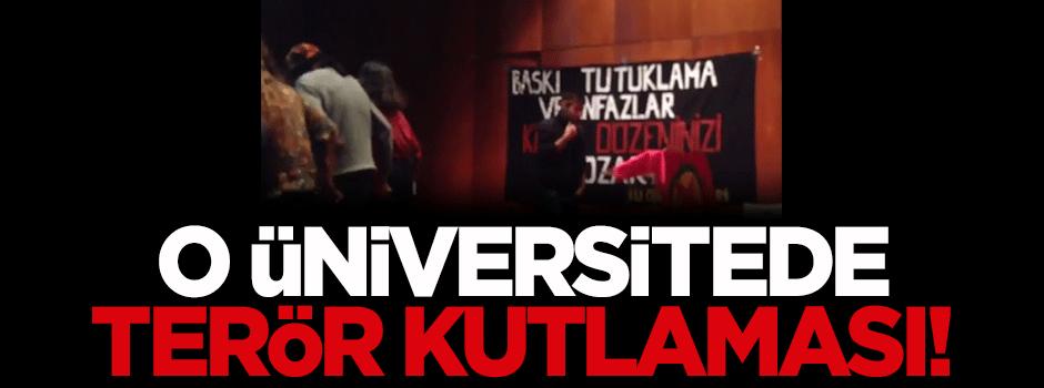 Boğaziçi Üniversitesi'nde terör kutlaması!