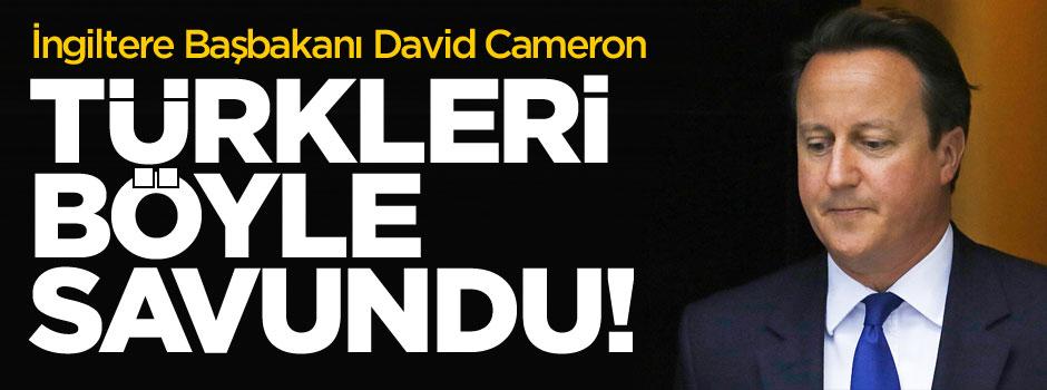 Cameron Türkleri böyle savundu