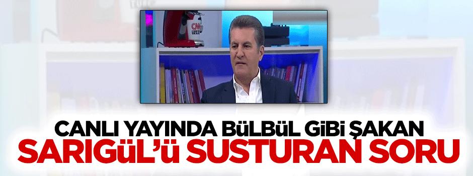 Canlı yayında bülbül gibi şakan Mustafa Sarıgül o susturan soru