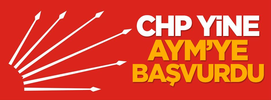 CHP yine AYM'ye başvurdu