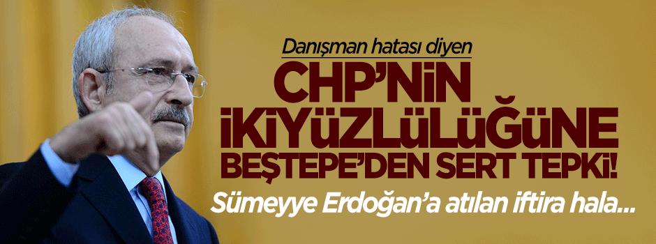 CHP'nin ikiyüzlülüğüne Beştepe'den sert tepki!