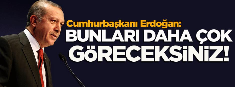 Cumhurbaşkanı Erdoğan: Alışmadılar ama alışacaklar