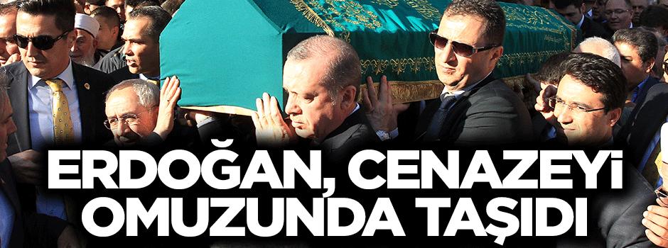 Erdoğan, omuzunda taşıdı