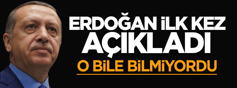 Erdoğan ilk kez açıkladı: Pilot dahi bilmiyordu