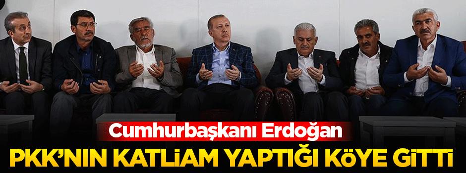 Cumhurbaşkanı Erdoğan katliamın olduğu köyde