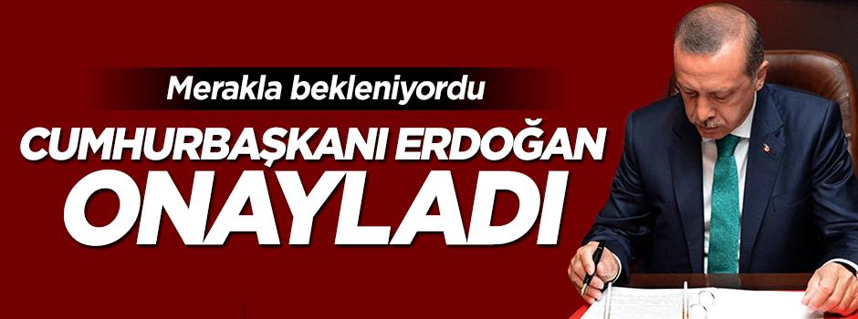 Erdoğan merakla beklenen kanunu onayladı