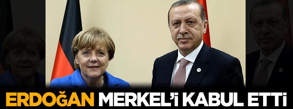 Prezident Ərdoğan, Merkeli qəbul etdi