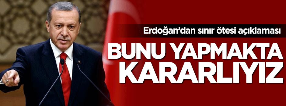 Cumhurbaşkanı Erdoğan'dan terör ile kararlı açıklama!