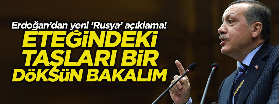 Cumhurbaşkanı Erdoğan'dan yeni 'Rusya' açıklaması