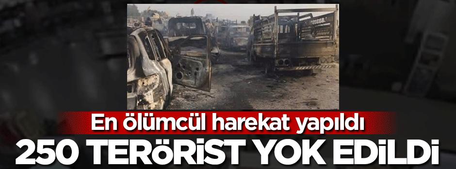 Konvoy vuruldu! 250 terörist öldürüldü