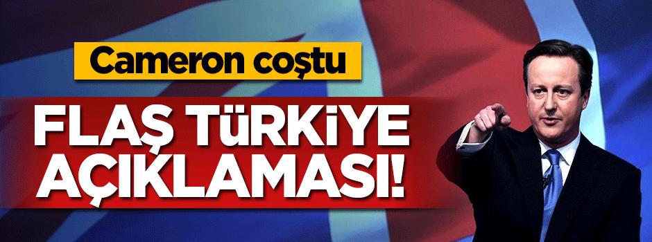 Cameron'dan şok Türkiye açıklaması!